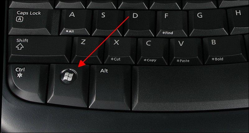 tlačidlo win na klávesnici